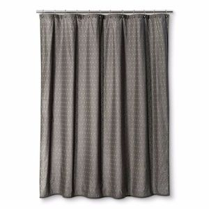 NWT Geometric Shower Curtain Radiant Gray